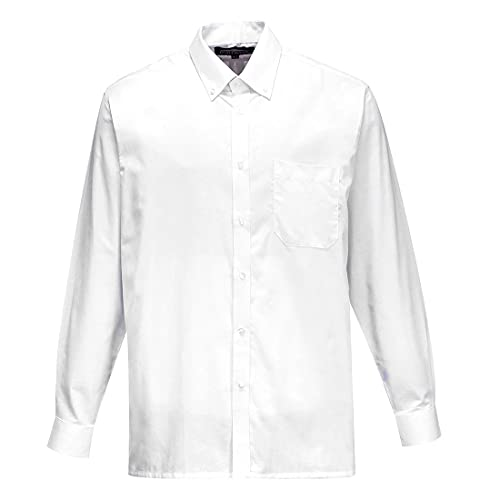 Portwest S107WHR185 Oxford Shirt, Long Sleeve, Regular, Size 185, White from Portwest