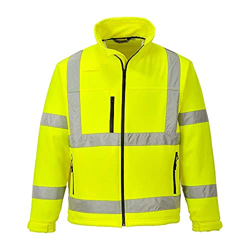 Portwest S424YERXL Hi-Vis Classic Softshell Jacket, Three Layer, Regular, Size X-Large, Yellow from Portwest