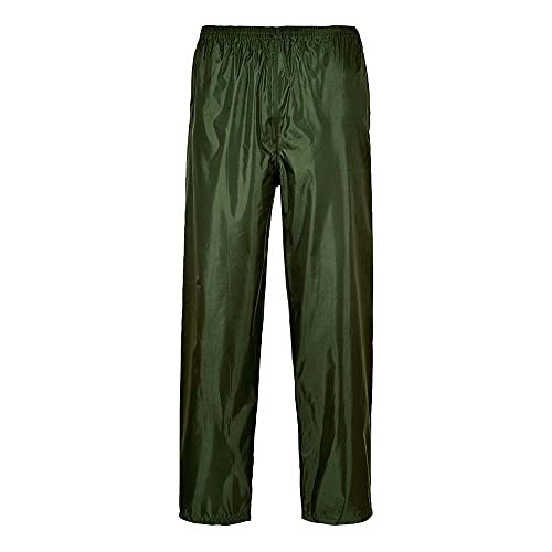 Portwest S441OGR4XL Classic Adult Rain Trouser, Regular, Size 4X-Large, Olive Green from Portwest