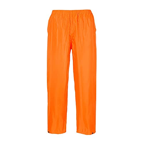 Portwest S441ORRS Classic Adult Rain Trouser, Regular, Size Small, Orange from Portwest