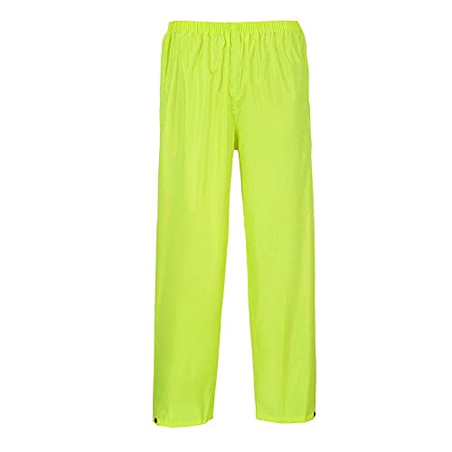 Portwest S441YERS Classic Adult Rain Trouser, Regular, Size Small, Yellow from Portwest