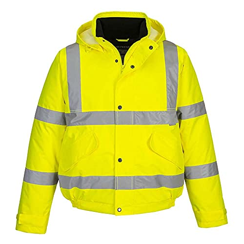 Portwest S463YERS Hi-Vis Bomber Jacket, Regular, Size Small, Yellow from Portwest