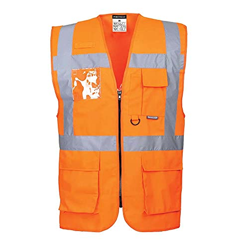 Portwest S476 Berlin Executive Vest, Orange, X Small from Portwest