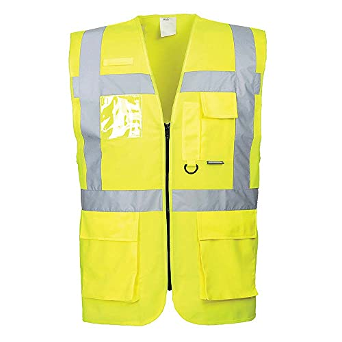 Portwest S476YER5XL Berlin Executive Vest, Regular, Size 5X-Large, Yellow from Portwest