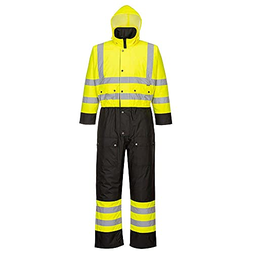 Portwest S485YBR5XL Contrast Coverall Lined, 5X-Large, Yellow/Black from Portwest