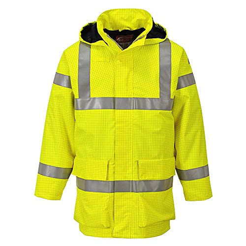 Portwest S774YERL Bizflame Rain Hi-Vis Multi Lite Jacket, Regular, Size: Large, Yellow from Portwest