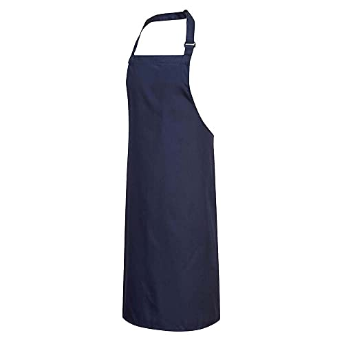 Portwest S841NAR PolyCotton Bib Apron, Regular, Navy from Portwest