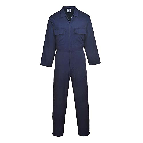 Portwest S999NARXL Euro Work Polycotton Coverall, Regular, Size: X-Large, Navy from Portwest