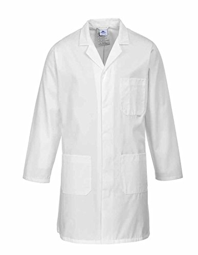 sUw - Standard Lab Medical Coverall Coat - White - L from Portwest