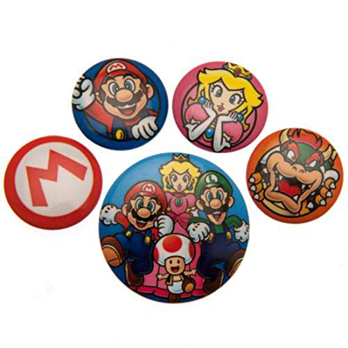 Pyramid International Super Mario Badge, Multi-Colour, 10 x 12.5 x 1.3 cm from Pyramid International
