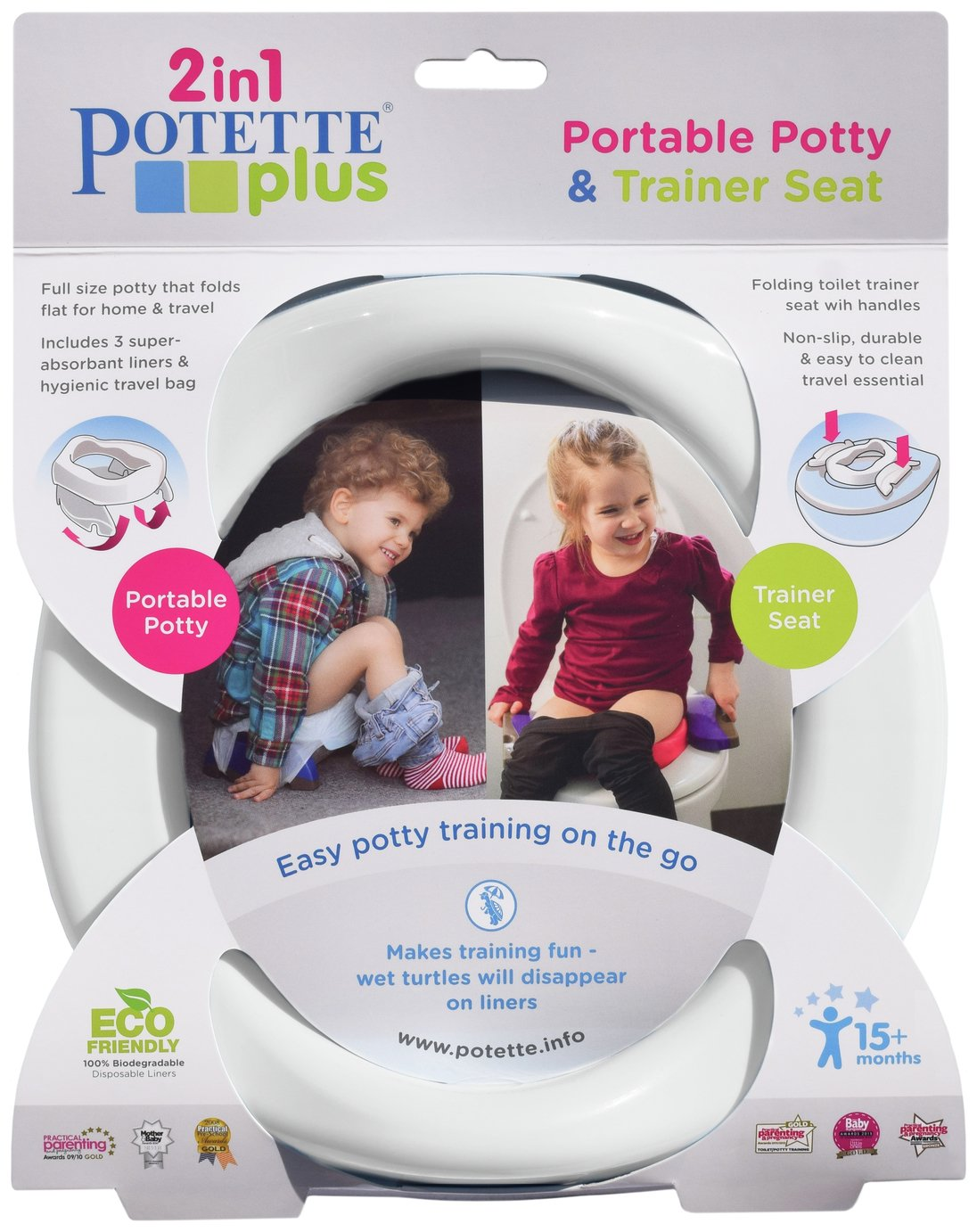 Potette Plus Fold Away Travel Potty from Potette