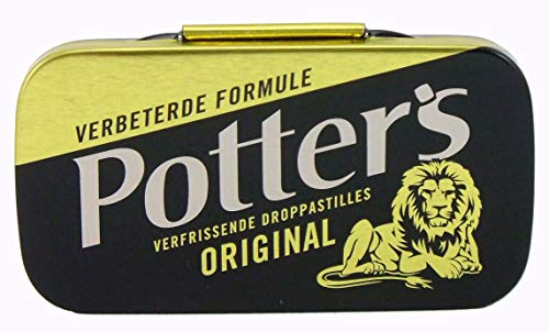 Potter's Original, Liquorice Lozenges, 12.5 Gr (0.44 Oz), (Pack of 5) from Potter's