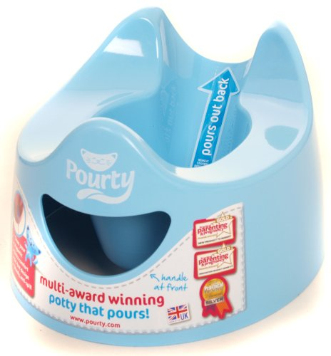 Pourty Easy-to-Pour Potty, Blue from Pourty