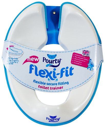 Pourty Flexi-Fit Toilet Trainer, White/ Blue from Pourty