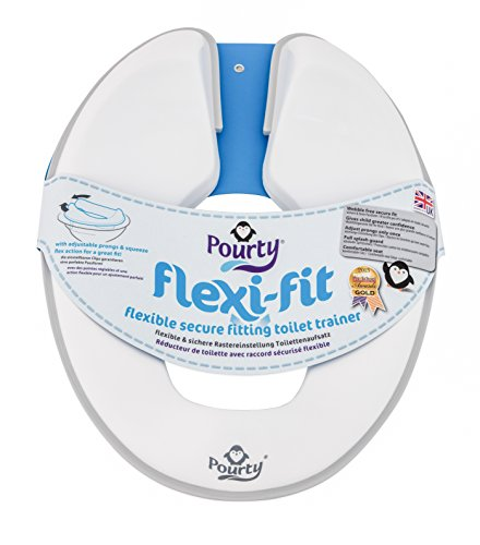 Pourty Flexi-fit Toilet Trainer (Penguin White/Grey) from Pourty