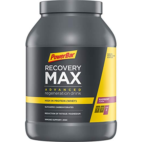 PowerBar Recovery Max Raspberry 1144g - Regeneration Whey Drink with Carbohydrates + Magnesium and Zinc, 24819601 from Power Bar