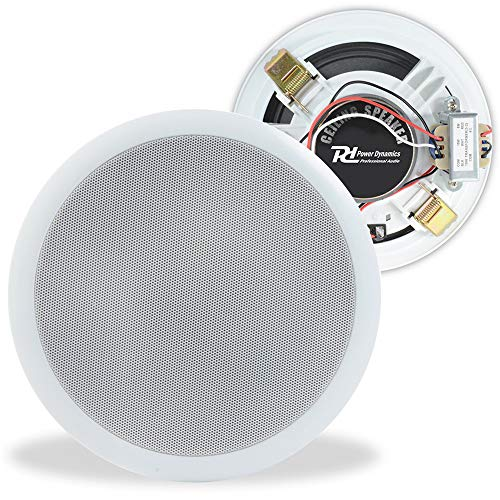 "Power Dynamics 100V Line 6.5"" Restaurant Office Bar Shop White Ceiling Speaker from Power Dynamics"