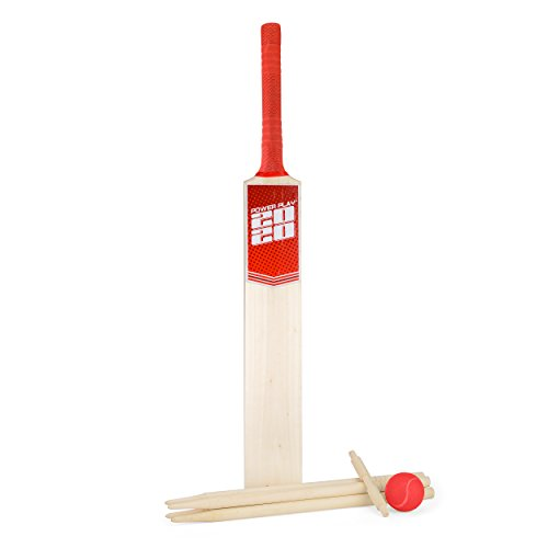PowerPlay BG889 Deluxe Cricket Set with Cricket Bat, Ball, 4 Stumps, Bails and Bag, Size 5 Bat from PowerPlay
