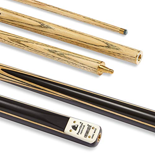 Powerglide Cue Connoisseur, Ash, Ebony, Rosewood and Maple, 2 Piece Cue - Black, 17 oz from PowerGlide