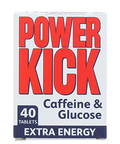 Power Kick Extra Energy Caffeine & Glucose Tablets x 40 from Powerkick