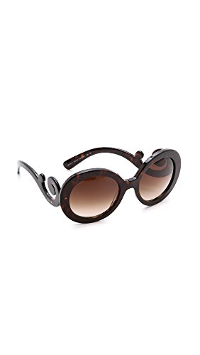 Prada Women's 0Pr27Ns 1Ab3M1 55 Sunglasses, Black/Grey Gradient from Prada