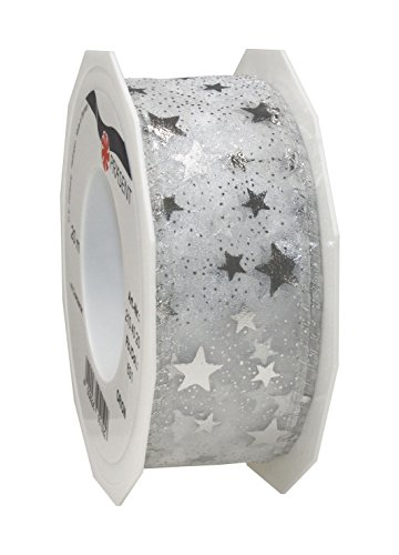 "Präsent"" Orion Ribbon Spool, Polyester, Silver, 12 x 12 x 4 cm from C.E. Pattberg"