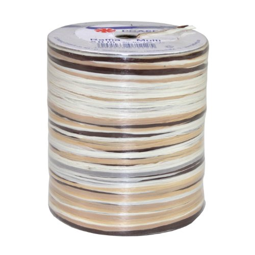 C.E. Pattberg Raffia Multicolour Brown-White-Cream, 55 Yards Wrapping Presents, 5-Strand Ribbon for Gifts, Accessories for Decorating and Handicrafts, for Every Occasion, Orange, 50 meter spool from C.E. Pattberg