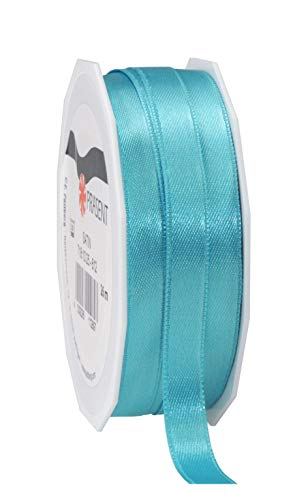 C.E. Pattberg SATIN aquamarine, 27 yards for Wrapping, 0.39 inches width, Decorating & Crafting, Decorative Ribbon for Gifts, for every occasion, polyester, 10mm-25m from C.E. Pattberg