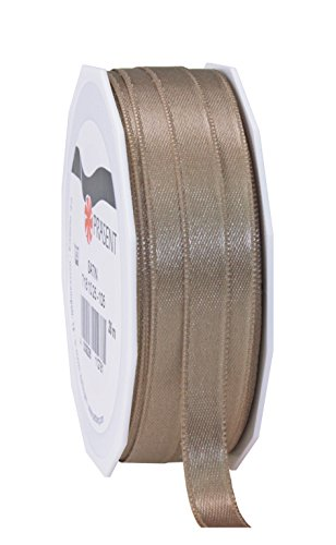 C.E. Pattberg SATIN taupe, 27 yards for Wrapping, 0.39 inches width, Decorating & Crafting, Decorative Ribbon for Gifts, for every occasion, polyester, 10mm-25m from C.E. Pattberg