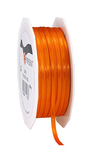 C.E. Pattberg orange, 55 yards for Wrapping, 0.12 inches width, Decorating & Crafting, Decorative Ribbon for Gifts, for every occasion, polyester, 3mm-50m from C.E. Pattberg