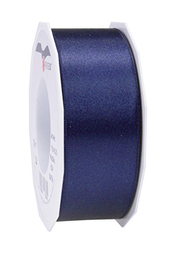 C.E. Pattberg SATIN dark blue gift ribbon, 27 yards for Wrapping Gifts, 1.6 inches width, Ribbon for Decorating & Crafting, Decorative Ribbon for Gifts, for every occasion from C.E. Pattberg