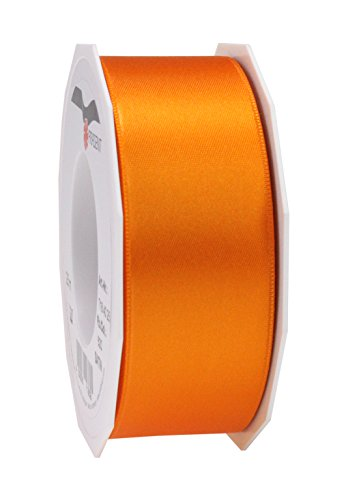 C.E. Pattberg SATIN orange gift ribbon, 27 yards for Wrapping Gifts, 1.6 inches width, Ribbon for Decorating & Crafting, Decorative Ribbon for Gifts, for every occasion from C.E. Pattberg
