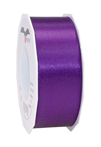 C.E. Pattberg SATIN violet gift ribbon, 27 yards for Wrapping Gifts, 1.6 inches width, Ribbon for Decorating & Crafting, Decorative Ribbon for Gifts, for every occasion from C.E. Pattberg