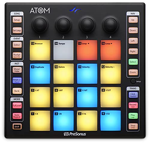 PreSonus ATOM Production and Performance Pad Controller with Studio One Artist Software from PreSonus