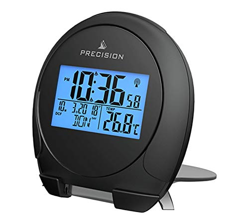 Precision LCD Radio Controlled Multi Band World Travel Backlit Alarm Clock from Precision