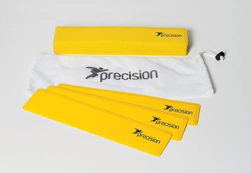Precision Rectangular Shaped Rubber Markers Yellow (Set of 15) from Precision