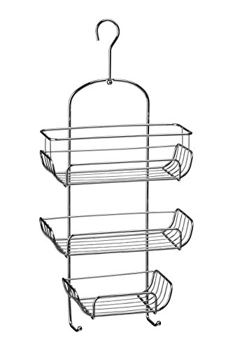 Premier Housewares 3-Tier Chrome Wire Shower Caddy (52 x 25 x 11 cm) - Silver from Premier Housewares