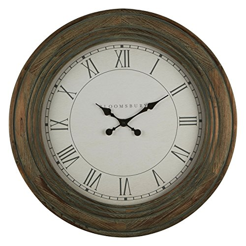 Premier Housewares Bloomsbury Wall Clock, Washed Grey, 7 x 78 x 78 cm from Premier Housewares