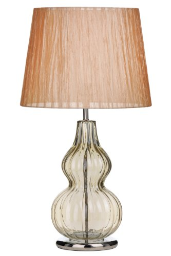 Premier Housewares Bubble Table Lamp with Fabric Shade - Champagne from Premier Housewares