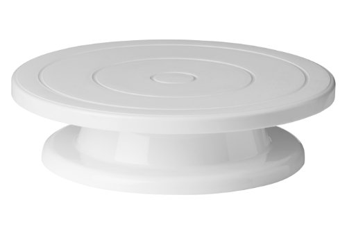 Premier Housewares 0806489 Rotating Cake Stand - White, 28 x H7 cm from Premier Housewares
