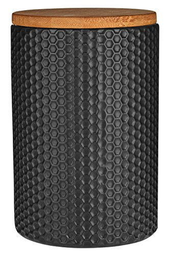 Premier Housewares Hex Canister - Black from Premier Housewares