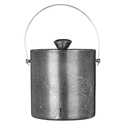 Premier Housewares Ice Bucket with Lid, Stainless Steel, Silver, 16 x 18 x 15 cm from Premier Housewares