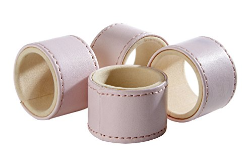 Premier Housewares Napkin Rings, Leather Effect, Pink, 5 x 5 x 3 cm from Premier Housewares