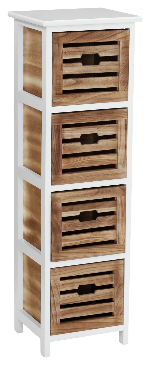 Premier Housewares Portsmouth 4 Drawer Storage Chest. at Argos from Premier housewares