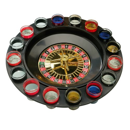 Premier Housewares Roulette Lucky Shot Drinking Game - 16 Glasses from Premier Housewares