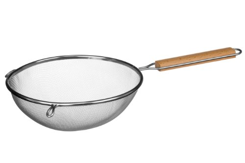 Premier Housewares Sieve with Wooden Handle, Stainless Steel, 24.5 cm from Premier Housewares