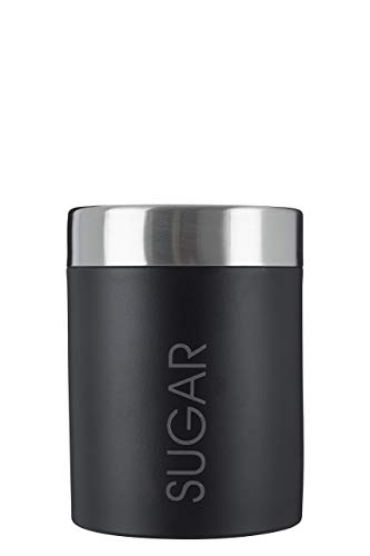Premier Housewares Sugar Canister with Rubber Seal - Black Enamel from Premier Housewares