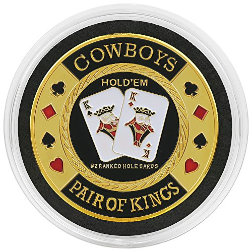 COWBOYS - Pair of Kings Poker Card Guard/Card Protector in Acrylic Protective Case from Premier Poker Chips UK