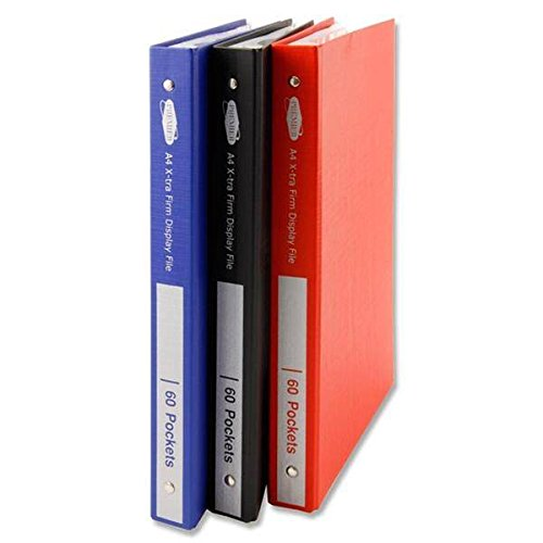 Premier A4 Xtra Firm 60 Pocket Hardback Display Book Folio Folder - Coloured x1 from Premier Stationery