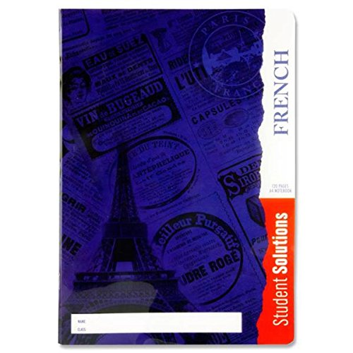 "Premier Stationery C3213439 A4""Student Solutions"" French Manuscript Book with Plastic Cover from Premier Stationery"